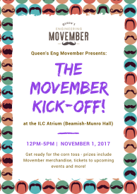 Movember Kick-Off Poster
