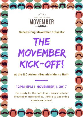 Movember Kick-Off Poster